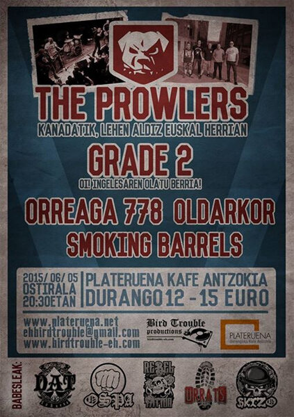 JUN 5,THE PROWLERS,  GRADE 2, ORREAGA 778, OLDARKOR, SMOKING BARRELS