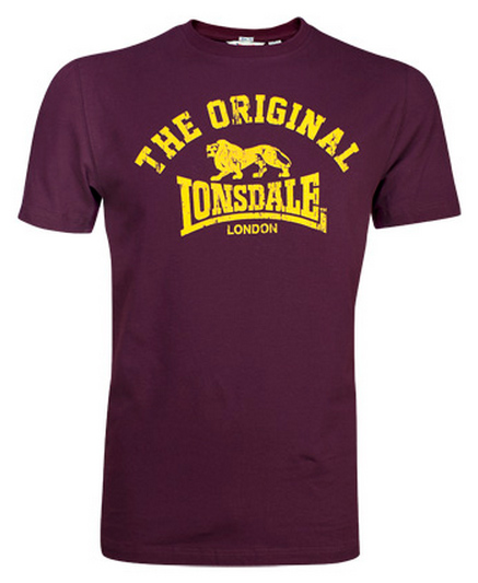CAMISETA LONSDALE ORIGINAL GRANATE