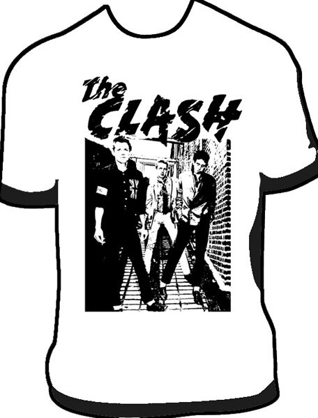 CAMISETA THE CLASH 1977 BLANCA