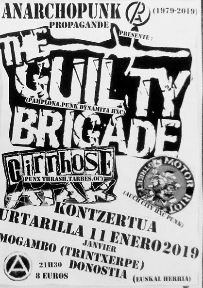2019-1-11 THE GUILTY BRIGADE, CIRRHOSE ATAK, MOTOR RIOT