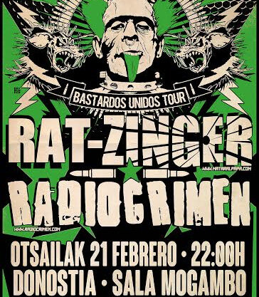 21 FEB, RAT-ZINGER + RADIO CRIMEN