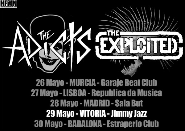 29 MAYO, THE ADICTS, THE EXPLOITED