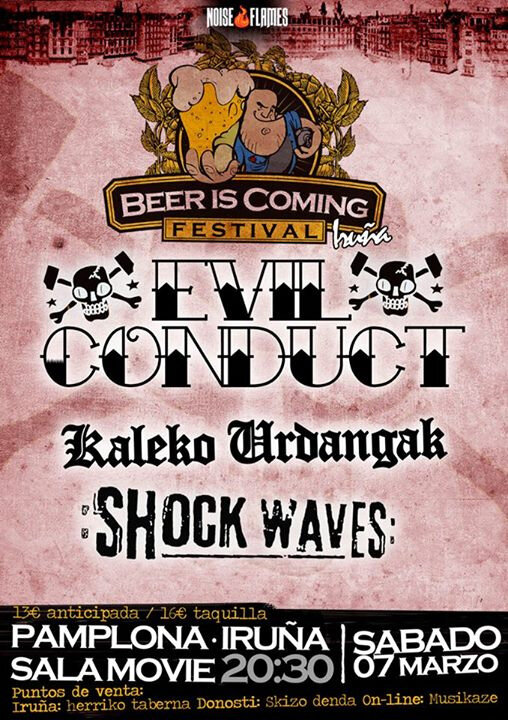 7 MAR. EVIL CONDUCT, KALEKO URDANGAK, SHOCK WAVES