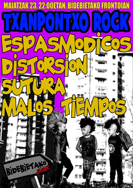 23 MAY ESPASMODICOS, DISTORSION, MALOS TIEMPOS, SUTURA