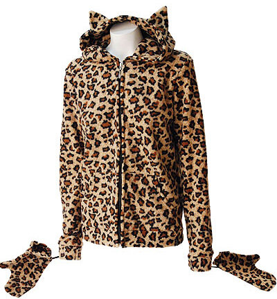 SUDADERA POLAR LEOPARDO NATURAL