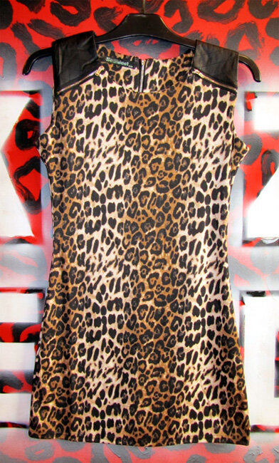 VESTIDO PUNK LEOPARDO NATURAL