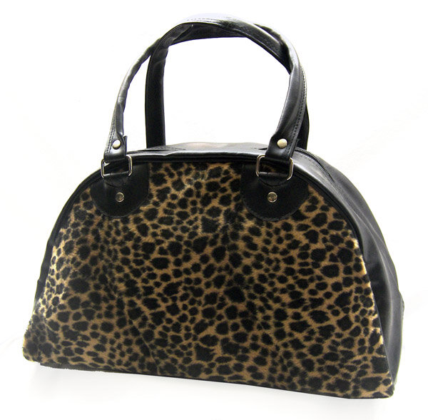 BOLSO BOWLING LEOPARDO NATURAL