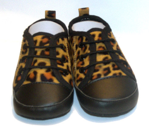 ZAPATO BEBE LEOPARDO NATURAL