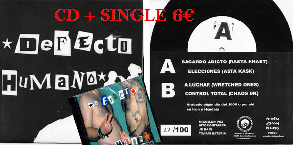 DEFECTO HUMANO SINGLE + CD