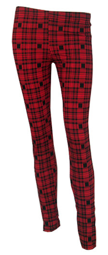 LEGGINGS ESCOCES ROJO