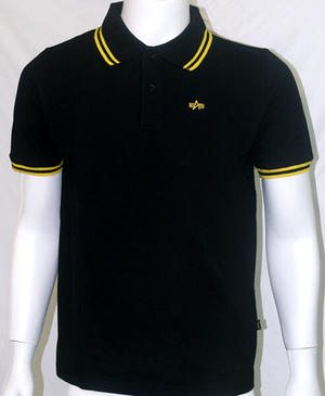 POLO ALPHA INDUSTRIES NEGRO-AMARILLO
