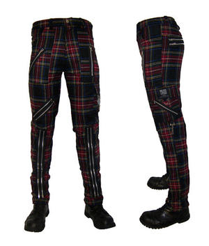 PANTALON PUNK ESCOCES MULTI CON CREMALLERAS